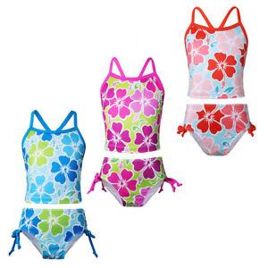 Mädchen Baby Tankini Bikini Badeanzug Set Blumen Muster Tops mit Slip Badeshorts