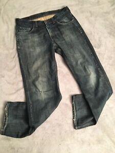 Men-s-Tommy-Hilfiger-Jeans-34W-32L-Distressed-Ripped-Worn-Blue-Jeans