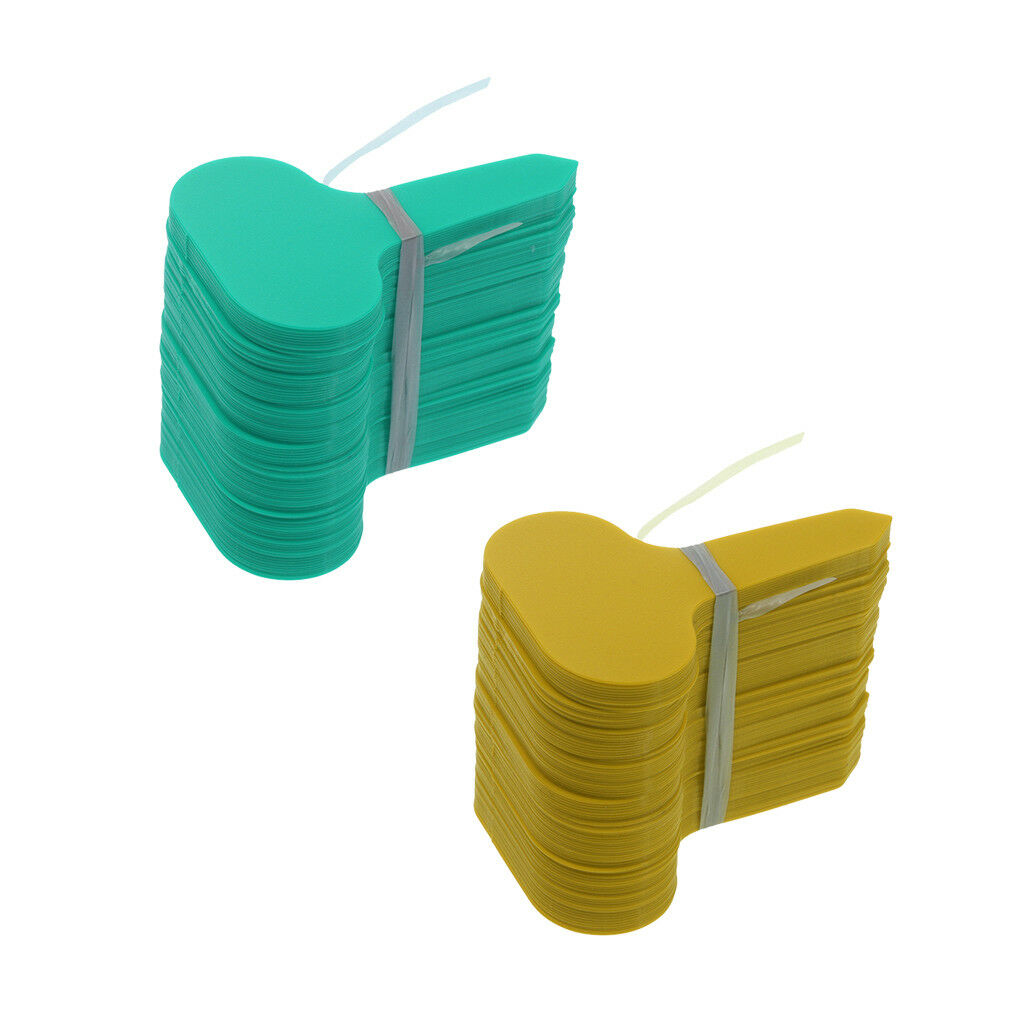 200x T Labels Green Plastic Tags Markers Garden pot stake Nursery Seed