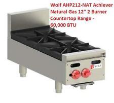 Wolf Ahp212 Nat Achiever Natural Gas 12 2 Burner Countertop Range 60000 Btu