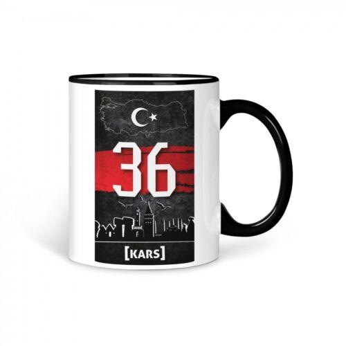 TASSE Kaffeetasse Türkei Kars 36 Türkiye Plaka V2