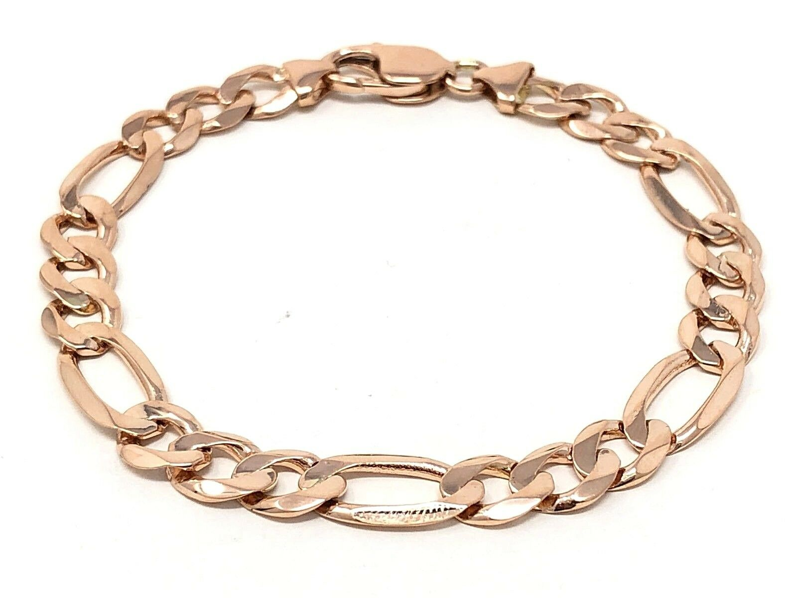 "14k White Gold Round Turquoise Baby Charm Bracelet 6/"" 4 grams"