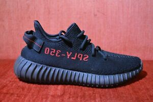 ed41cd9f07414 WORN ONCE ADIDAS YEEZY Boost 350 V2 BLACK RED Bred Size 7.5 CP9652 ...