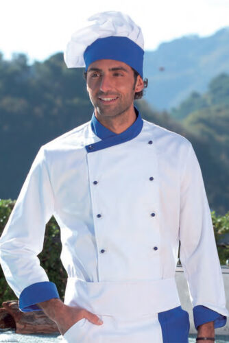 Giacca Cotone Ristorante Cucina Chef Cuoco Casacca Da Lavoro Divisa Bianca  Uomo pOrp6 7acf6ee06ffc