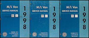 1998 Chevy Astro and GMC Safari Shop Manual 3 Volume Set ...