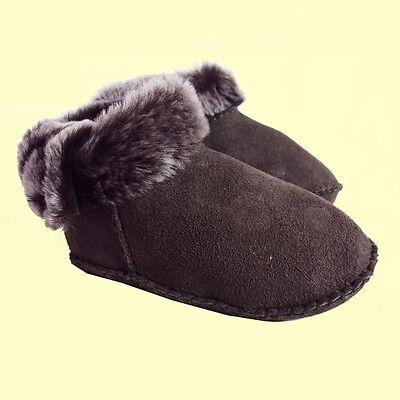 100% Piel de oveja bebé Botas Primera Zapatos booties-natural Colores 0-18 Meses Unisex