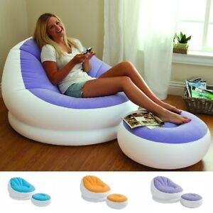 Inflatable Sofa Chair Adult Bean Bag Soft Light Beanless