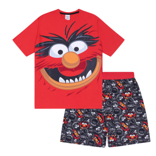 Mens Pajamas Short Gift Retro Muppets Official Loungewear The Animal wnvq0UI8vf