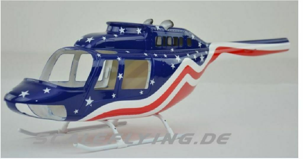 T Rex 450 Copter X Scale Coque Jet Ranger 206 Stars And Stripe