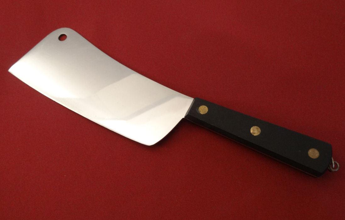 Sabatier France Inox & Ovale Mark Meat Cleaver à découper couteau Avec Cintre Vintage