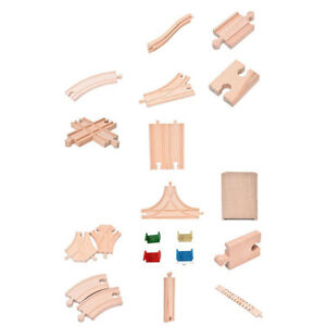 AM/_ WOODEN TRAIN TRACK CONNECTORS ADAPTERS EXPANSION RAILWAY ACCESSORIES KIDS TO