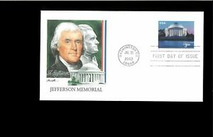 2002-First-day-Cover-Jefferson-Memorial-Washington-DC