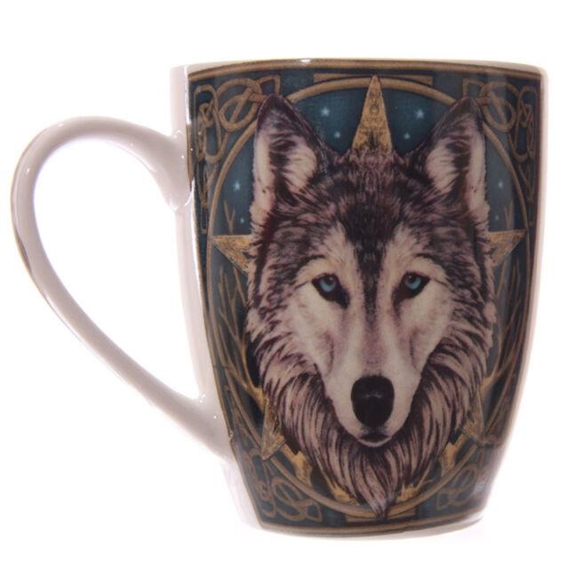 KAFFEETASSE - CELTIC WOLF Design by Lisa Parker Kaffeepott/-becher NEU OVP