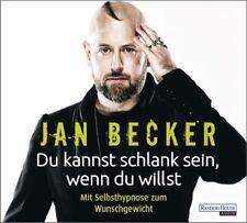 JAN BECKER - DU KANNST SCHLANK SEIN,WENN DU WILLST.MIT SELBSTHYPNOSE... 2CD NEU