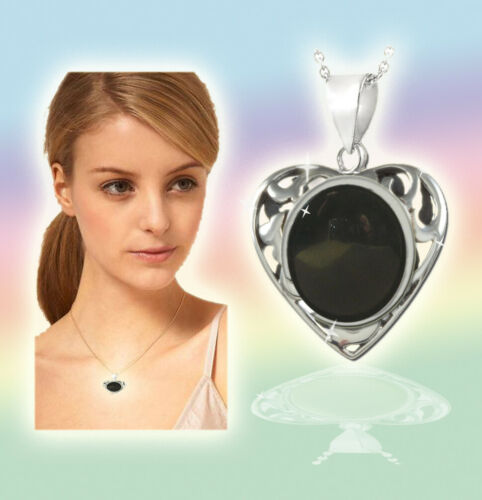 Sterling Silver with Six Different Colors Heart Pedant