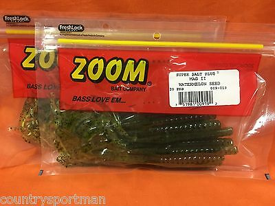 20cnt 2 PCKS ZOOM Mag II Worm #009-279 Green Pumpkin Watermelon