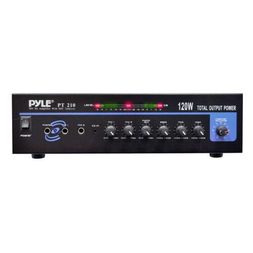 120 WATT MICROPHONE PA Mono Amplifier w//70V Output /& Mic Talkover
