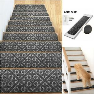 Charmant Details About Stair Treads Non Slip Rug Cushion Grip Indoor Pet Rubber Mat  Skid Resistant Gray