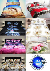 3D-Duvet-set-King-double-Size-3PCS-Bedding-Animal-Floral-Rose-80-Gsm-Quality