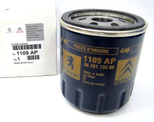 Original citro peuge-filtro aceite 1109.ap para citroen peugeot ford Fiat Hyundai