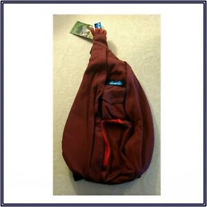 NWT KAVU Rope Sling Bag Backpack in Port Unisex Travel Hike Camp Student