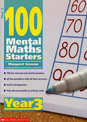 1 of 1 - Year 3 (100 Mental Maths Starters), Gronow, Margaret, Good Condition Book, ISBN