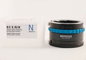 Corchete físicamente entusiasmo  MINT] Novoflex Adapter for Nikon F Mount Lenses to Sony E-Mount (NEX/NIK) |  eBay