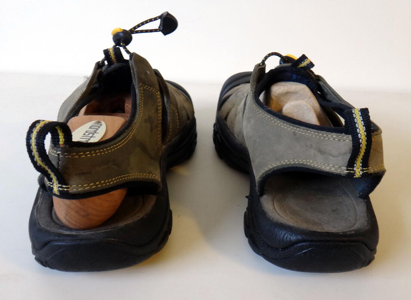 KEEN shoe Hybrid 10 shoe KEEN sandal rubber toe water hiking beach nubuck green strap slip 690a4b