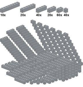 Lego-Bricksy-039-s-Bascis-Lightbluishgray-A50-Basicsteine-neues-hellgrau-sc