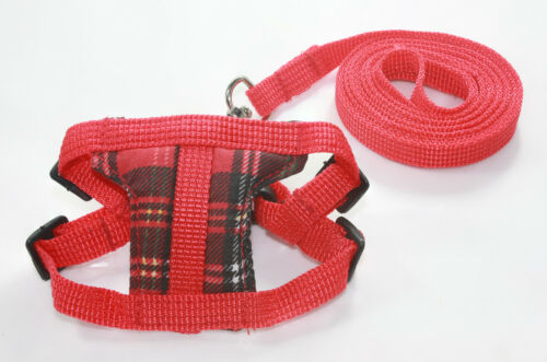 Red Leashes lead pet soft harness small pet guinea rat Hamster Ferret leveret