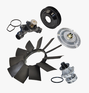 5pcs for BMW E36 E46 E39 E53 Water Pump Fan Clutch Thermostat Blade Pulley Kit