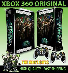 100% Vrai Xbox 360 Tortues Ninja Tmnt Autocollant Peau & 2 Pad Contrôleur Stickers Ventes Pas ChèRes 50%