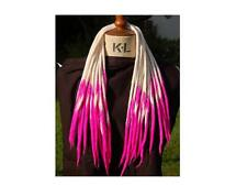 Blonde and Cerise Pink Transitional Dreadlocks - 16 Handmade felted wool dreads