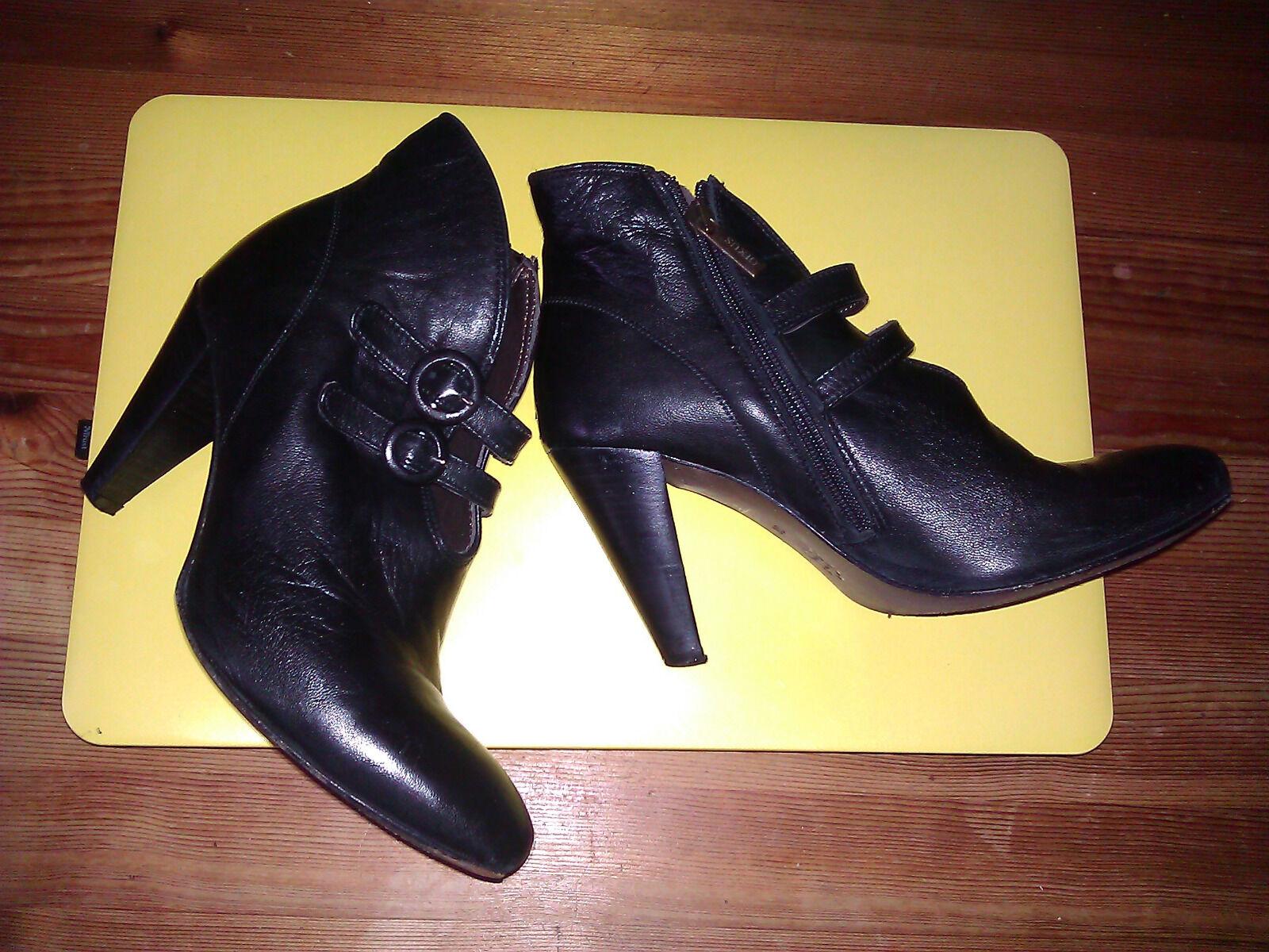 Damen Stifelette echtes Leder von SACHA schwarz gr 36 Top Zustand