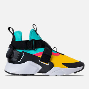 nike huarache pink and green