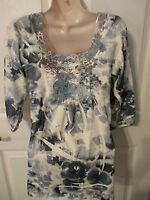 - Simply Irresistible Ladies Velour Top - Sz S - Shades Of Gray - Crocheted