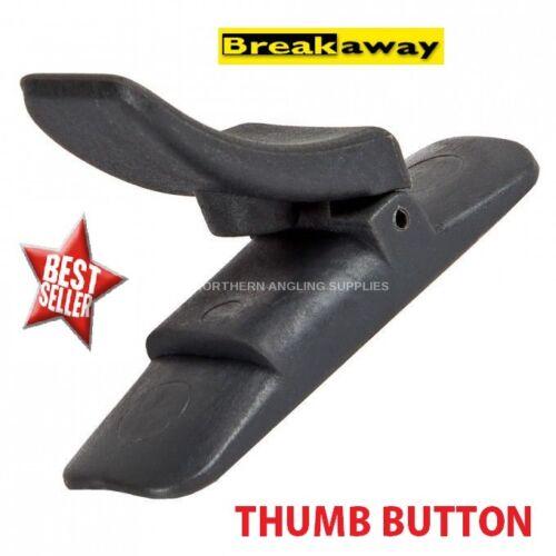 Breakaway casting thumb button