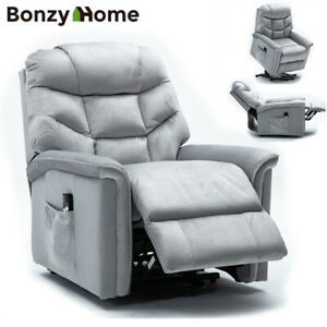 Power-Lift-Recliner-Chair-Overstuffed-Sofa-Waterproof-Suede-with-RC-for-Elderly
