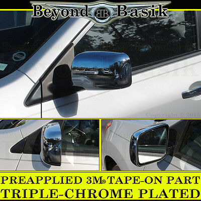 Chrome Door Mirror Covers Cap For 2008-2013 Cadillac CTS//CTS-V 08 09 10 11 12 13