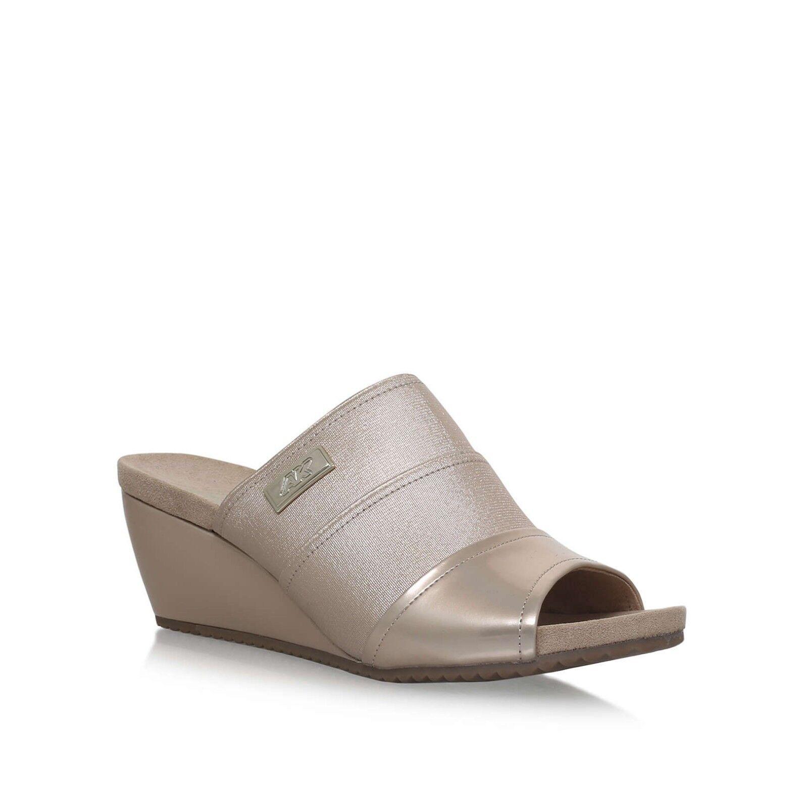 Anne Klein Chanay Mid Heel Heel Heel Sandals Shoes Size 9 BNWT RRP  Bone Freepost 8b4267