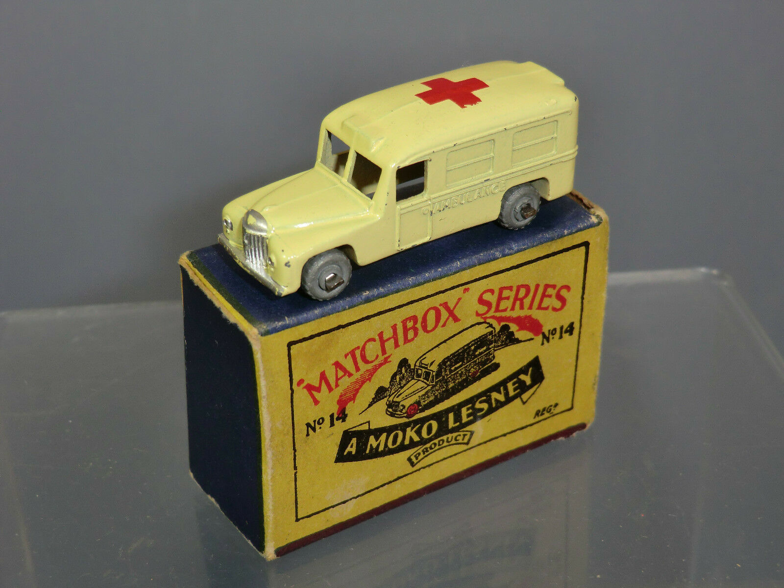 Matchbox Moko Lesney NO.14b NO.14b NO.14b Daimler ambulancia VN MIB f965bc