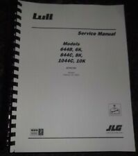 Lull Jlg 644b 6k 844c 6k 1044c 10k 37 42 54 Forklift Service Repair Manual