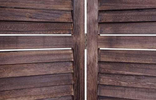 Paravent Raumteiler Trennwand Sichtschutz Shabby-Look Vintage 170x160cm