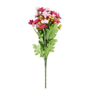 1X-Ein-Buendel-gefaelschte-Cineraria-kuenstlichen-Blumenstrauss-Hause-X1D9