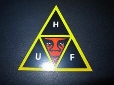 """OBEY X HUF WORLDWIDE Skate Sticker Andre Giant Mural 3/"""" decal Shepard Fairey"""
