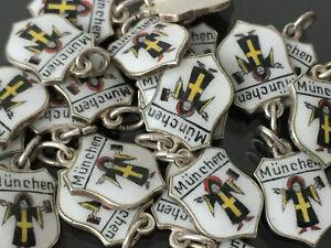 Anhänger - München Münchner Kindl Wappen Bettelarmband - 835er Silber & Email