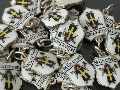 835er Silber /& Email München Münchner Kindl Wappen Bettelarmband Anhänger