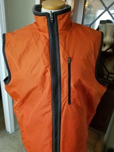 euc MENS Tommy Hilfiger sz L grey orange full zip… - image 1
