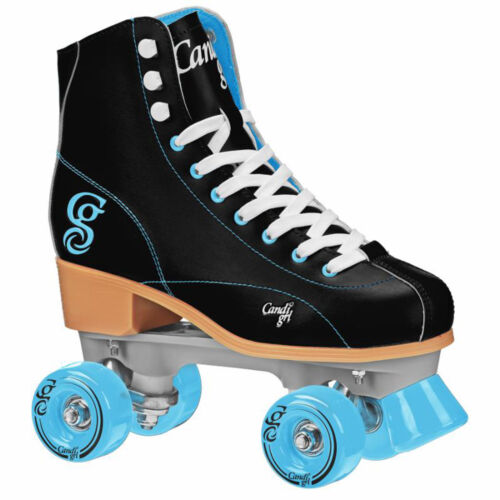 Candi Girl Sabina Black Teal Roller Skates Girls Ladies Size 3-10