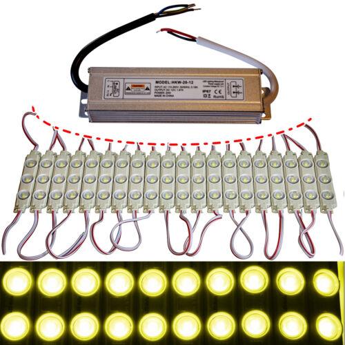 Netzteil gelb 3x 5730 SMD Chip Injektion Licht LED Module Werbung 12V